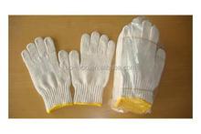 7G-13G natual white cotton hand job gloves