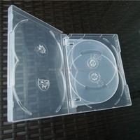 DVD5 duplication printing transparent dvd cases for 5 discs