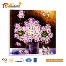 Famous abstract flower picture wall hanging paintings