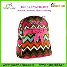 Personalized Kid Backpacks in Chevron Print Kids School Backpack