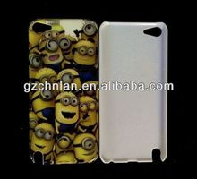 Popular cartoon despicable me plastic cover for ipod touch 5 minions case
