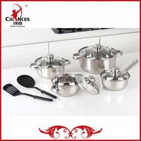 8Pcs OEM Cookware Set with Nylon Kitchen Utensils