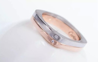 2014 Popular bamboo design stainless steel jewelry ring
