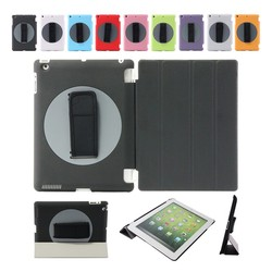 Special design rotating 360 degree handheld plastic case for iPad , for iPad smart case factory outlet