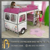 Alibaba China manufacture custom kids bus bunk bed
