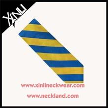 High Quality 100% Silk Jacquard Woven Stripe Form Tie Gold