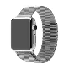 Lock Link Bracelet Metal Watch Band for Apple Watch, Stainless Steel Strap for Apple Watch, Magnetic Band for Apple Watch 42