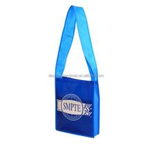 long handle lamination non woven bag in blue