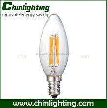c35 candle flame led filament lamp c35 4w filament bulbs e14 ce & rohs c35 flame filament candle light full glass