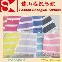 Light colour stripe plain dye colour french terry fabric in 2015