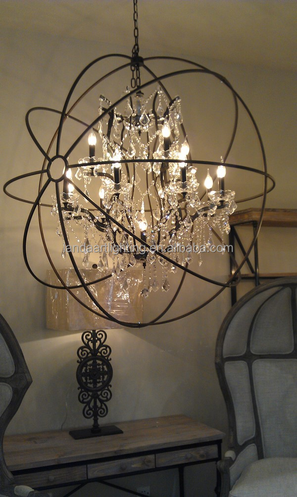 Hot Sale Modern Crystal Rustic Iron Chandelier Buy