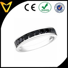 2015 Fashion Stainless Steel Jewelry Finger rings Black Diamond Stainless Steel Fashion Ring