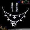 Wholesale cheap fashion bridal wedding rhinestone jewelry set, neckalce earrings jewelry set