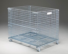 Stackable and Folding Steel Heavy Duty Wire Mesh Cage for Warehouse Storage