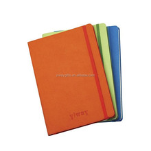 A4/B5/A5/A6/pocket size writing notebook with PU leather cover and elastic band