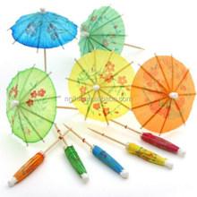 Paper umbrella parasol picks