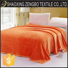 2014 Hot Sale Promotional cheap throw adult plain dyed flannel blanket