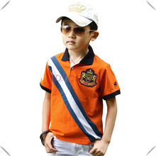 high quality 100% cotton fashion baby clothing wholesale china, with embroidery pacthes on front left chest
