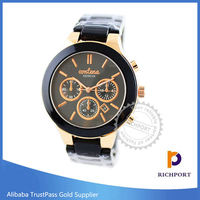 Low Price Vogue Water Resistant Stainless Steel Watches for men