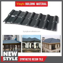 Spanish style corrugated plastic roofing tile building materials synthetic resin