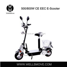 Wellsmove Folding EEC Electric Scooter for sale 500w 800w 1000w