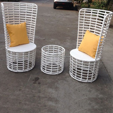 Restaurant Coffee Shop White Synthetic Poly Resin PVC Patio Marquee Outdoor Furniture Philippines Manila