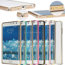 Fashion Luxury Ultra-thin Easy Lock Metal Aluminum Frame bumper Gold Side cover for Samsung Galaxy Note Edge N9150