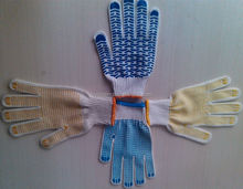 pvc diotted cotton glove/gloves with anti slip rubber palm dots