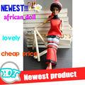 nuevo negro muñeca de moda para chica muñeca africano