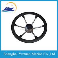 304 S.S Steering Wheel W/PU Foam 6 Spoke For Marine 15.5 Inch