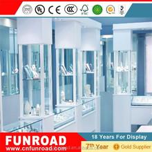 Bespoke jewelry glass case cabinet, jewelry display stand