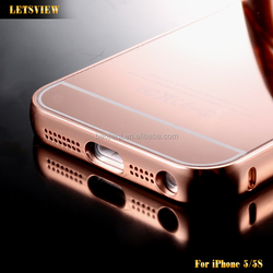 Wholesale Hot Sale New Luxury Quality Mirror Case Ultra thin Aluminum Mobile Phone Cases For iPhone 5/5S Acrylic Back Cover