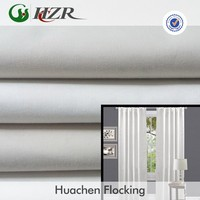 100% polyester plain dyed thermal lining curtain fabric water washable