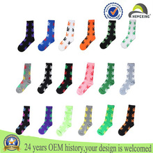 Christmas socks Wholesale Custom Marijuana Weed Leaf Colored Man Women Cotton Long Sports Socks in stock