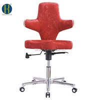 2015 Promotional New Red Fabric Bar Chair with Armrest