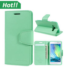 Dual Wallet Leather Book Flip Case Cover,leather cell phone case for Samsung galaxy A3 A5 A7