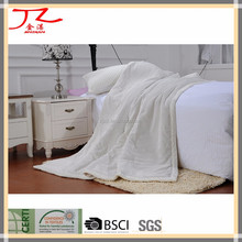 wholesale solid dyed 19W polar fleece wide wale corduroy fabric blanket/throw/quilt
