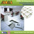 600 x 600 mm panel de acero anti estática a prueba de fuego de la sala de ordenadores / centro de datos ajustable criado acceso pisos de vinilo cumplir ZTFLOOR