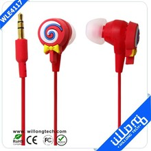 Candy lollipop earphone for MP3 in bulk