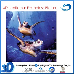 Customized Design Deep 3D Lenticular Picture With Sea Animals
