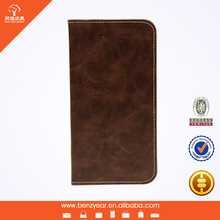 Hot selling cheap coffee PU leather mobile phone case for Samsung Note 4