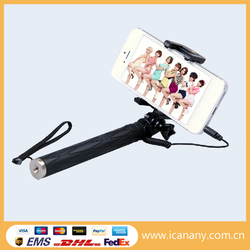 Hunting accessories, flexible monopod for digital camera, cable pen selfie stick for bike and sightseeing