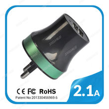 3 in 1 multi purpose 2.1a 2.4a 3.1a 3.4a wall charger for mfi phone charge