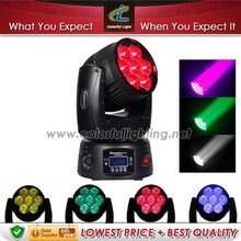 Princess beam party/disco/music concert /wedding 7pcs 12.8w led stage lights