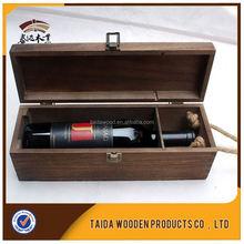 Wood Crafts Antique European Style 2015 Customized Design Blank Wood Wine Box