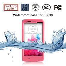 2015 Hot Selling Rugged Waterproof Cell Phone Case for LG G3 with Bracket