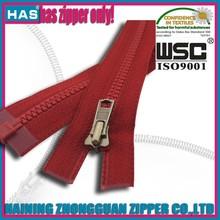 3# vislon zipper open end red open end vislon zipper