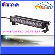 High Quality 2015 New 50W Super Thin Single Row C ree Led Light Bar For Tractor Truck Forklift Heavy Duty