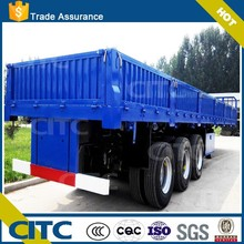 shipping container 40 foot side wall semi trailer with stainless steel panels CITC brand