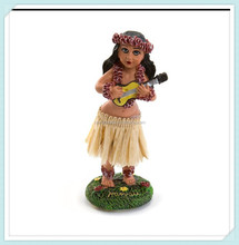 Wholesale dashboard hula girl figurine